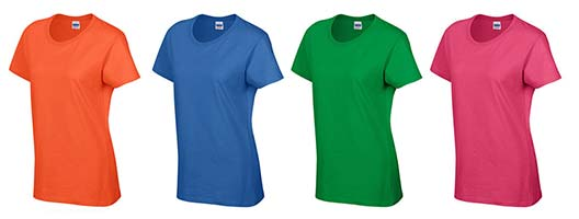 Orange, Blue, Green & Pink Coloured T-Shirts