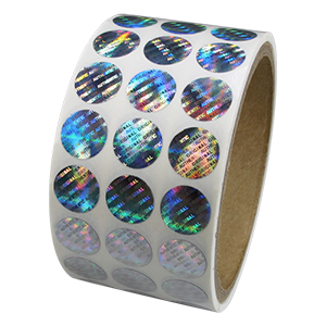 Roll of hologram labels