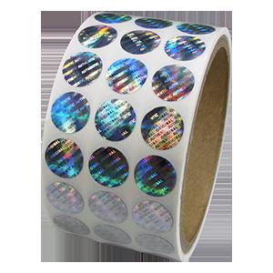 Roll of hologram labels