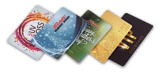 A variety of plastic cards