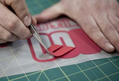 CAD Cut Vinyl Printing Process