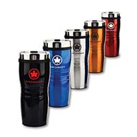 5 Insulated Mugs with Air Canada Logo