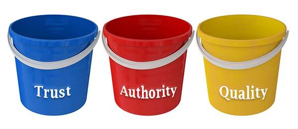 SEO Buckets Trust, Authority & Quality